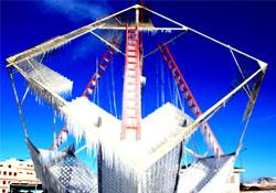 Erzurum'da Sibirya soğukları buzlu sanata dönüştü