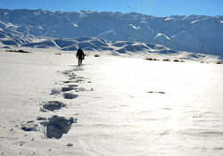 Yüksekova'da kar manzaraları