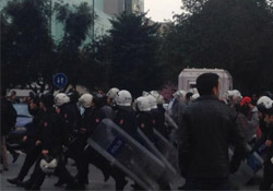 BBP'lilerle polis arasında gerginlik