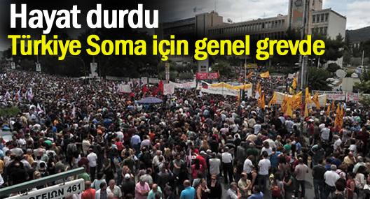 Soma için grev günü