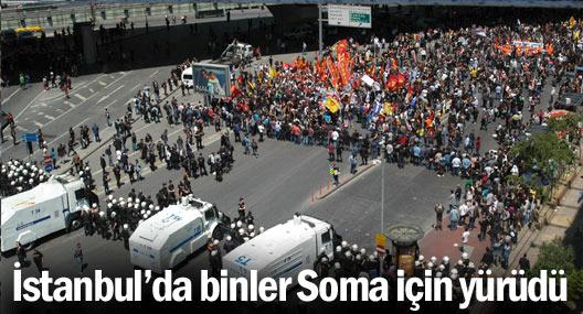İstanbul'da binler Soma için yürüdü
