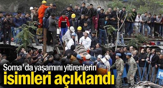 İşte Soma'da yaşamını yitiren madencilerin isimleri