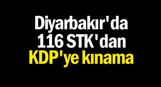 Amed'den 116 STK'dan KDP'ye kınama