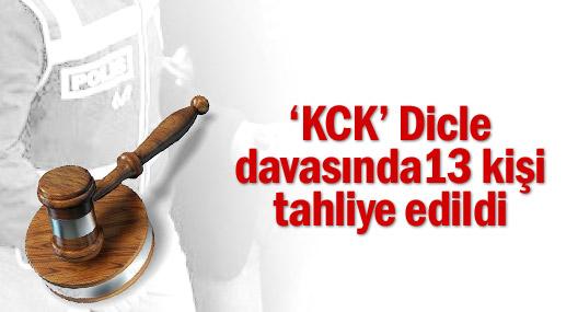 'KCK' Dicle davasında 13 kişi tahliye edildi
