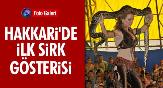 Hakkari'de ilki düzenlenen sirk gösterisi ilgi gördü