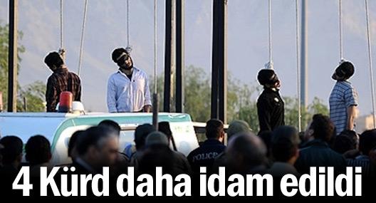 İran, 4 Kürdü daha idam etti