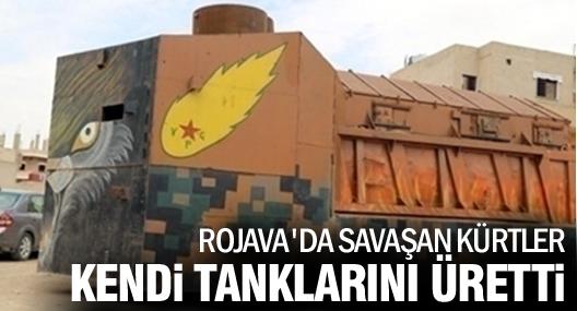 Rojava'da savaşan Kürtler kendi tanklarını üretti