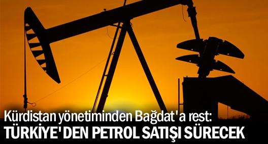 Kürdistan Yönetimi: Türkiye'den Petrol Satışı Sürecek