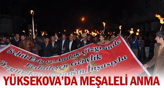 HPG'li Özek ile Yılmaz için meşaleli yürüyüş