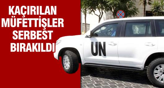 Suriye'de kaçırılan 6 Bm Nükleer Müfettişi serbest bırakıldı