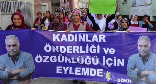 Kadınlar Öcalan'ın özgürlüğü için eylemde