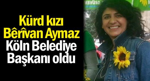 Kürd kızı Bêrîvan Aymaz Köln Belediye Başkanı oldu