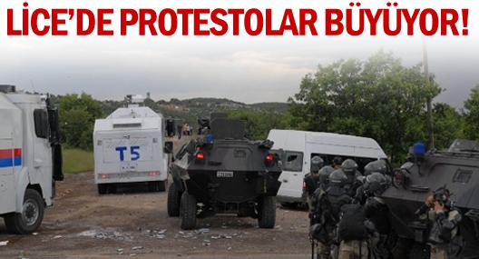 Lice'de protestolar büyüyor!