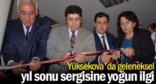 Yüksekova'da geleneksel yıl sonu sergisine yoğun ilgi