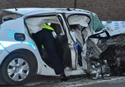 Çorum'da kaza: 1 polis öldü 3 yaralı!