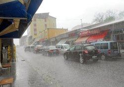 Dolu ve yağmur  zor anlar yaşattı