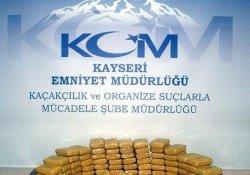 Kayseri'de 36 kilo eroin yakalandı