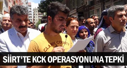 Siirt'te bugün yaşanan gözaltılar protesto edildi