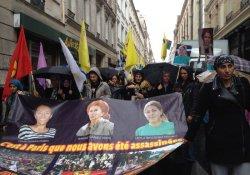 Paris'te Sakine, Fidan ve Leyla için adalet eylemi