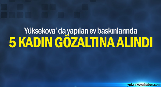 Yüksekova'da 5 kadın gözaltına alındı