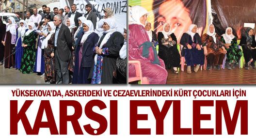 Askerdeki ve cezaevlerindeki Kürt çocukları için 'karşı eylem'