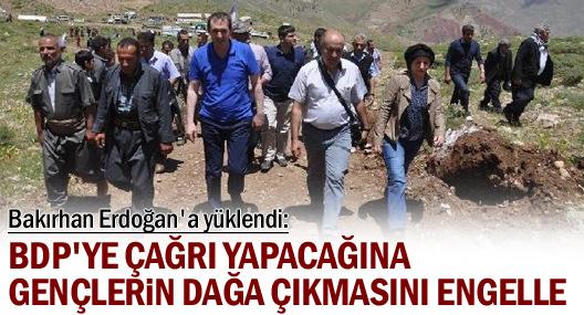 Bakırhan: BDP'ye çağrı yapacağına gençlerin dağa çıkmasını engelle