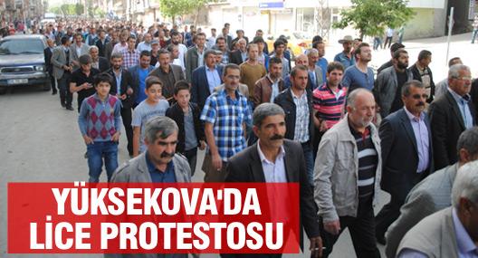 Yüksekova'da Lice'de 2 kişinin öldürülmesi protesto edildi