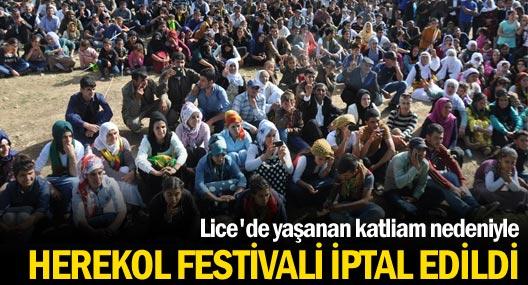Siirt'teki Herekol Festivali iptal edildi