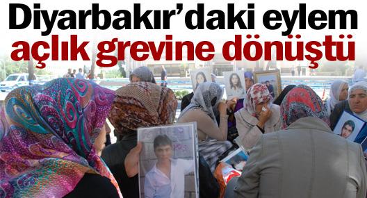 Diyarbakır'daki eylem açlık grevine dönüştü