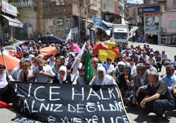 Lice Olayları Derik'te Protesto Edildi
