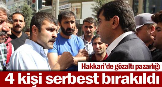Hakkari'de oturma eylemi sona erdi, gözaltındakiler serbest