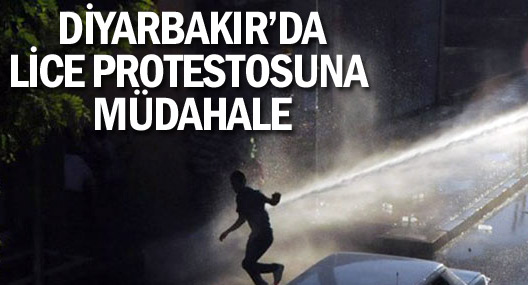 Diyarbakır'da Lice protestosuna müdahale