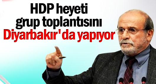 HDP heyeti grup toplantısını Diyarbakır'da yapıyor