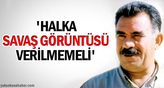 Öcalan: AKP kalekolları durdurmalı!