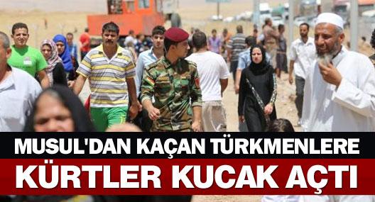 Musul'dan kaçan Türkmenlere Kürtler kucak açtı