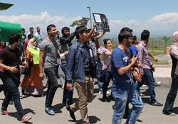 Muş'ta Lice protestosu