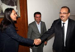 Vali Canbolat'tan eş başkanlara iadei ziyaret