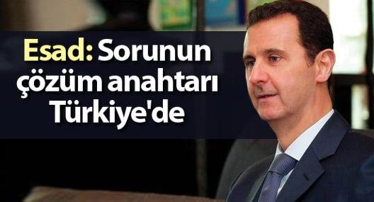 Esad: Suriye sorununun çözüm anahtarı Türkiye'de