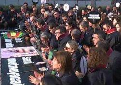 Tahir Elçi'nin ölümünün 20. gününde avukatlar eylem yaptı