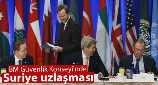 BM Güvenlik Konseyi'nde Suriye uzlaşması