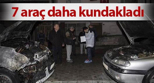 Sultangazi'de 7 araç kundakladı