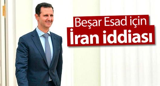 Beşar Esad için İran iddiası