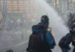 Galatasaray Meydanı'ndaki eyleme polis müdahalesi