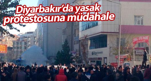 Diyarbakır'da yasak protestosuna müdahale