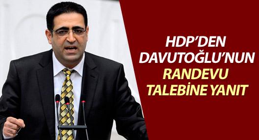 HDP'den açıklama: Başbakan Davutoğlu'yla görüşeceğiz