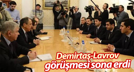 Demirtaş-Lavrov görüşmesi sona erdi