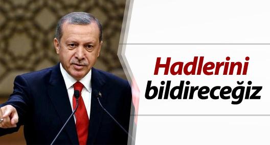 Erdoğan: Hadlerini bildireceğiz