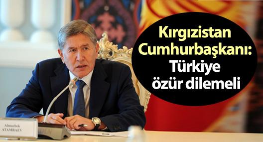 Kırgızistan Cumhurbaşkanı: Türkiye özür dilemeli