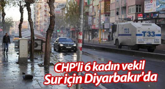 CHP'li 6 kadın vekil Sur için Diyarbakır'da