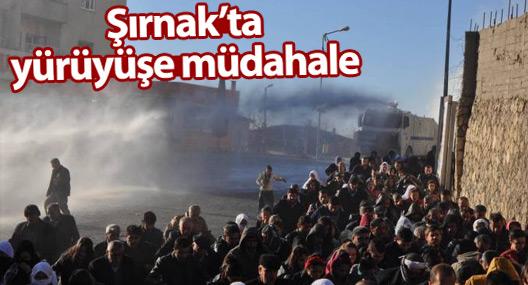 Şırnak'ta yürüyüşe polis müdahalesi